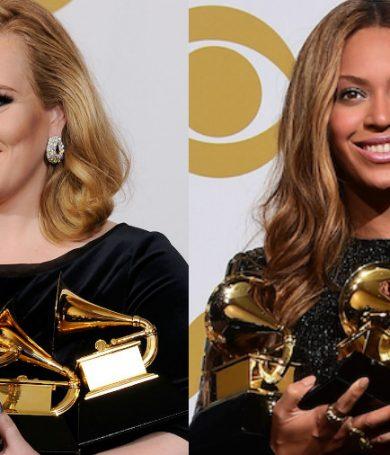 Adele y Beyoncé, las favoritas a ganar los Grammy Awards 2017