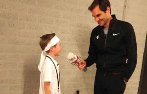 La hermosa charla entre Federer y un niño que le entrevisto.