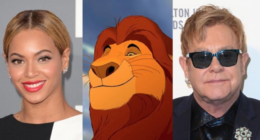 """Elton John y Beyoncé trabajan en una nueva canción para el remake de """"El Rey León""""."""