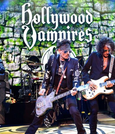 The Holywood Vampires con Marilyn Manson y Steven Tyler