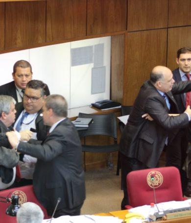 Riera y Payo, a los puños en el Senado