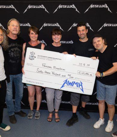 Metallica donó cerca de 1,6 millones usd. en su gira europea a organizaciones benéficas
