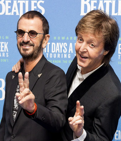 Ringo y Paul se reunieron para grabar una canción de Lennon.