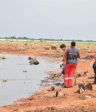 San Antonio organiza intensa jornada de limpieza en zona del Río Paraguay