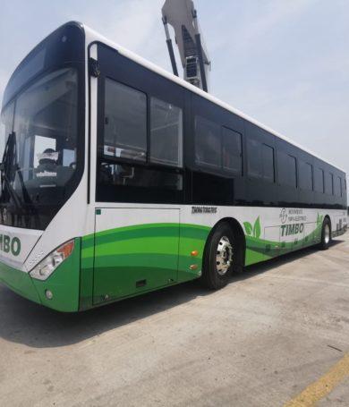 Buses eléctricos innovan flota de transporte público