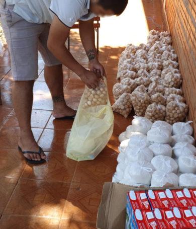 Internos del Centro Educativo de CDE prepararon kits para sus familias