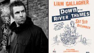 Liam Gallagher transmitirá un show que grabó en un barco por el Támesis