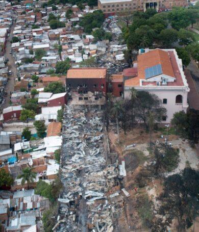 Mas de 100 familias afectadas por incendio en la Chacarita