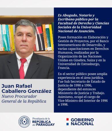 Ejecutivo designó a Juan Rafael Caballero como nuevo procurador general de la República