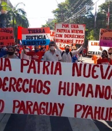 Organizaciones marchan por los Derechos Humanos y contra el stronismo