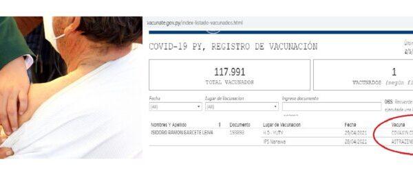 """Otra del """"Vacunate"""": Recibió solo primera dosis, pero en registro de Salud figura con doble vacuna"""